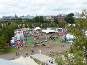 View of Glasgow Green